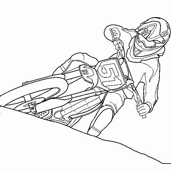 Coloriage et dessins gratuits Motocross Ktm à imprimer