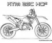 Coloriage et dessins gratuit Motocross Ktm pour découpage à imprimer