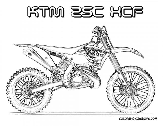 Coloriage et dessins gratuits Motocross Ktm pour découpage à imprimer
