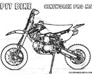 Coloriage Motocross Pit Bike