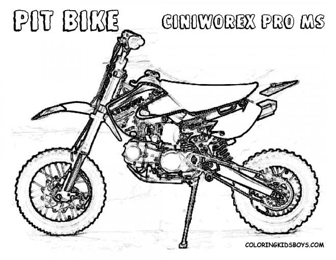 Coloriage et dessins gratuits Motocross Pit Bike à imprimer