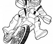 Coloriage et dessins gratuit Motocross pour enfant à imprimer