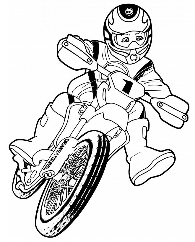 Coloriage motocross pour enfant dessin gratuit imprimer - Moto a colorier et imprimer gratuit ...