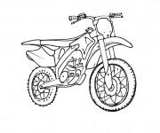 Coloriage et dessins gratuit Motocross pour Sport extrême à imprimer