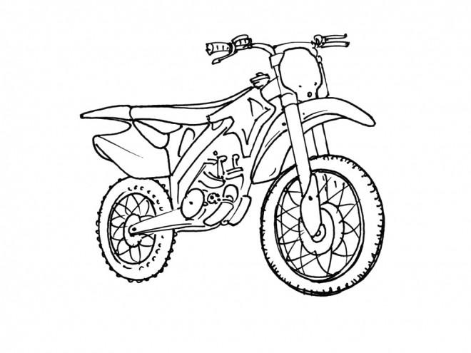 Coloriage motocross pour sport extr me dessin gratuit - Comment dessiner une moto cross ...