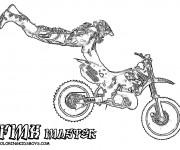 Coloriage et dessins gratuit Motocross réaliste à imprimer