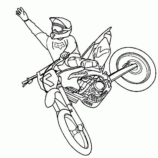 Coloriage et dessins gratuits Motocross saut sport extrême à imprimer