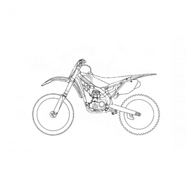 Coloriage et dessins gratuits Motocross simple à imprimer