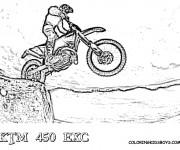 Coloriage Motocross sur montagne