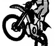 Coloriage et dessins gratuit Motocross vectoriel en ligne à imprimer