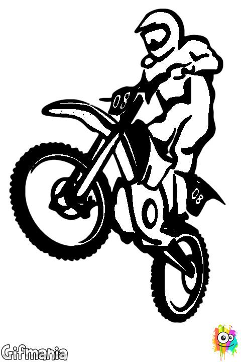 Coloriage et dessins gratuits Motocross vectoriel en ligne à imprimer