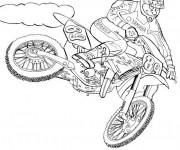 Coloriage Motocross Yamaha en plein air