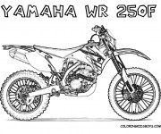 Coloriage Motocross Yamaha WR