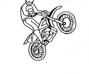 Coloriage et dessins gratuit Motocycliste et Motocross en show à imprimer