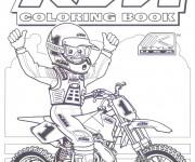 Coloriage et dessins gratuit Motocycliste et Motocross pour coloriage à imprimer