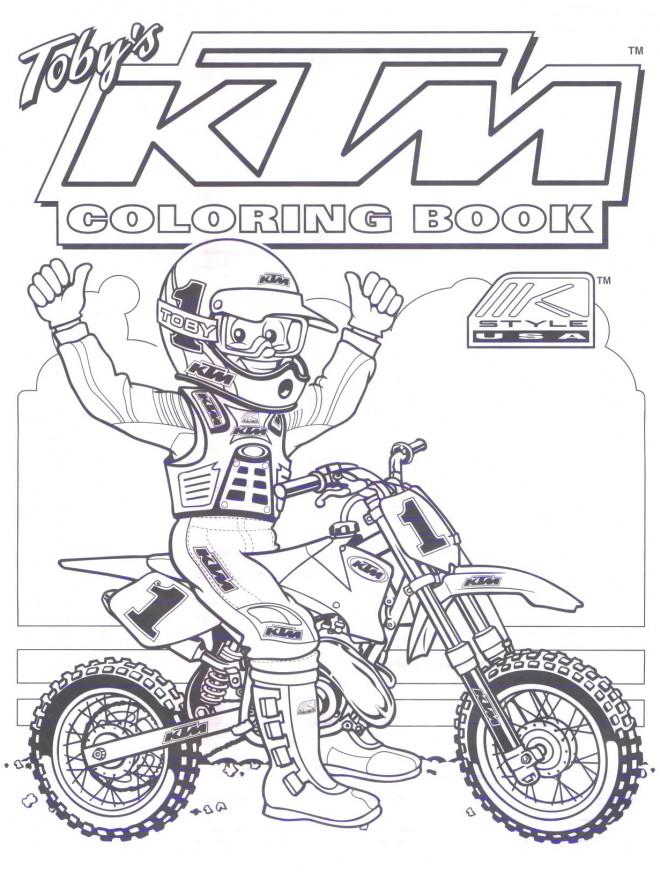Coloriage et dessins gratuits Motocycliste et Motocross pour coloriage à imprimer