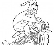 Coloriage Motocycliste humoristique dessin animé