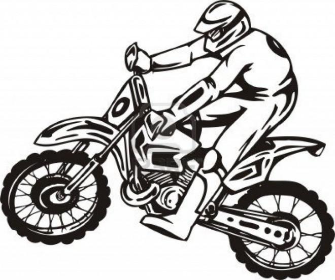 Coloriage et dessins gratuits Motocycliste professionnel vecteur à imprimer