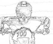 Coloriage et dessins gratuit Un portrait de Motocross Rider Freestyle à imprimer