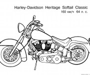 Coloriage Motocyclette