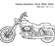 Coloriage Harley Davidson Dyna Wide Glide