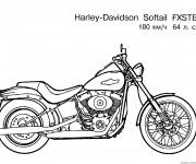 Coloriage et dessins gratuit Harley Davidson Modèle FXSTB à imprimer