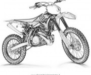 Coloriage Image Motocross