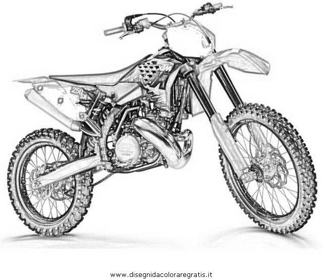 Coloriage et dessins gratuits Image Motocross à imprimer