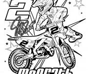Coloriage Moto Honda sport