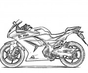 Coloriage Motocyclette 1