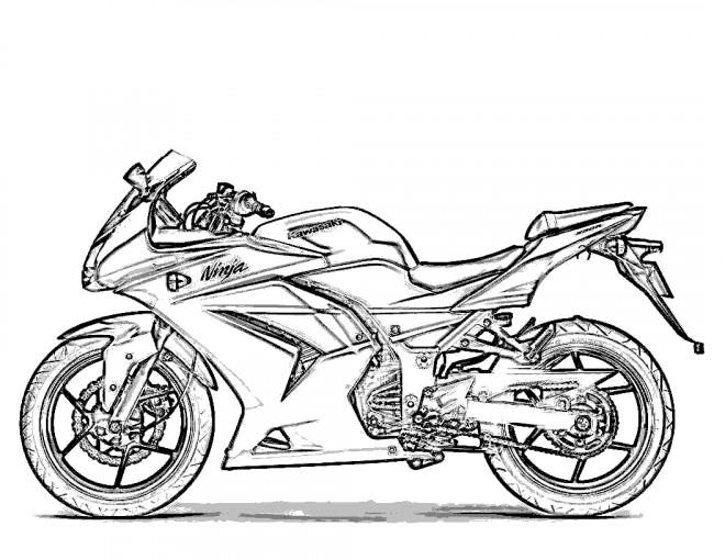 Coloriage et dessins gratuits Motocyclette 1 à imprimer