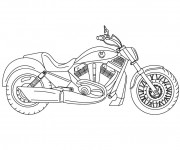 Coloriage Motocyclette 10