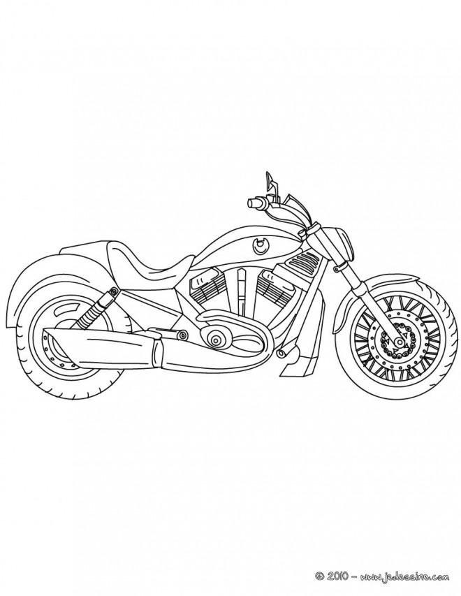 Coloriage et dessins gratuits Motocyclette 10 à imprimer