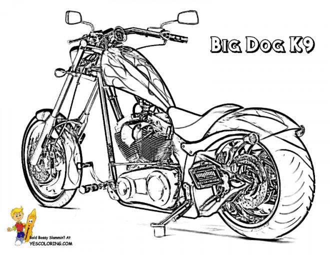 Coloriage et dessins gratuits Motocyclette 11 à imprimer