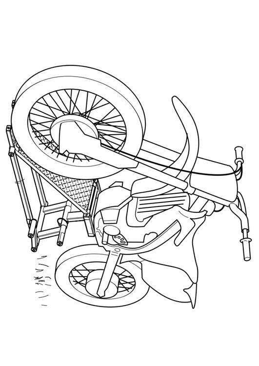 Coloriage et dessins gratuits Motocyclette 14 à imprimer