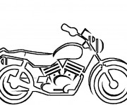 Coloriage Motocyclette 16