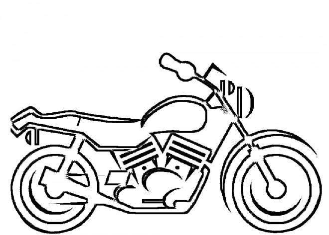 Coloriage et dessins gratuits Motocyclette 16 à imprimer