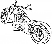 Coloriage Motocyclette 17