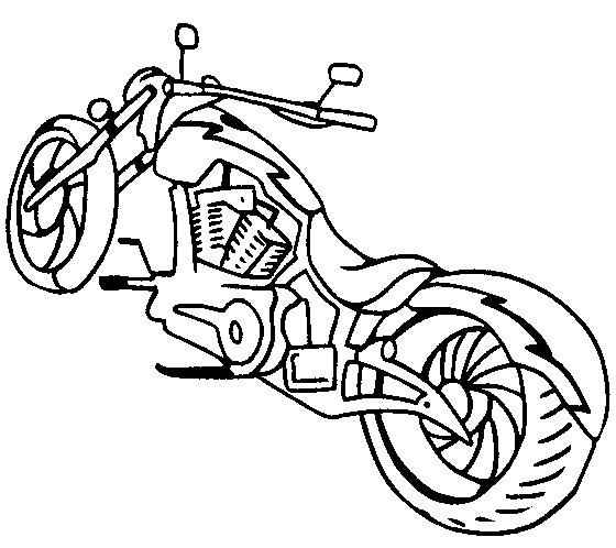 Coloriage et dessins gratuits Motocyclette 17 à imprimer
