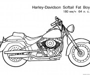 Coloriage Motocyclette 19