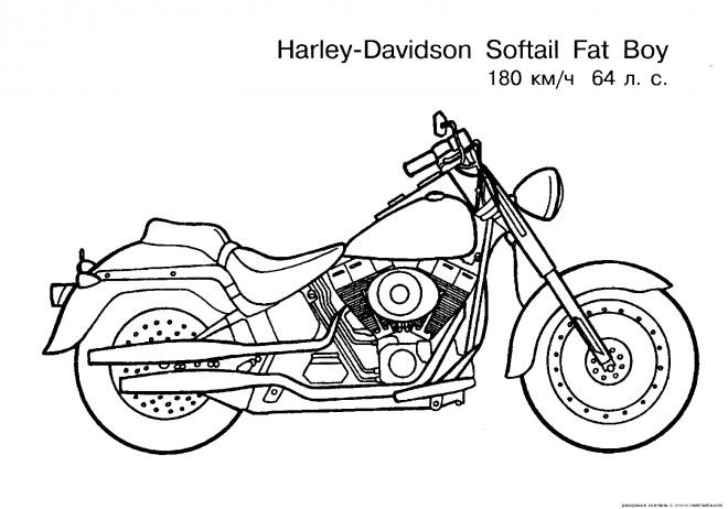 Coloriage et dessins gratuits Motocyclette 19 à imprimer