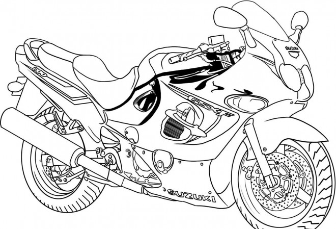 Coloriage et dessins gratuits Motocyclette 2 à imprimer