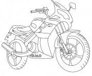 Coloriage et dessins gratuit Motocyclette 20 à imprimer