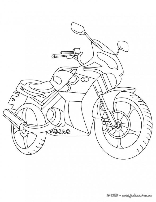 Coloriage et dessins gratuits Motocyclette 20 à imprimer