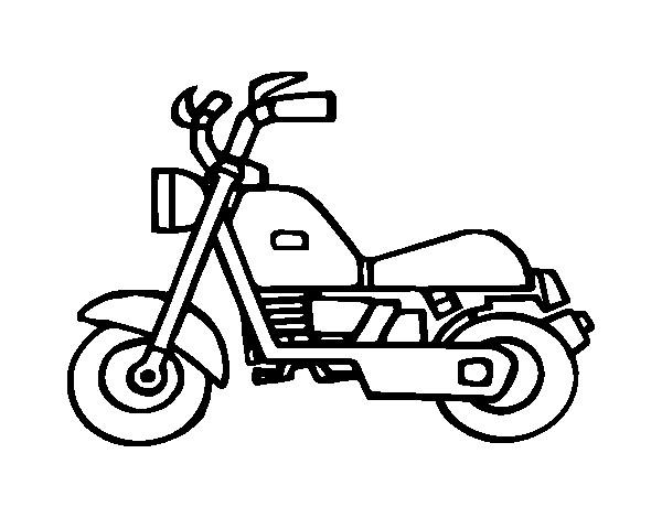 Coloriage et dessins gratuits Motocyclette 24 à imprimer