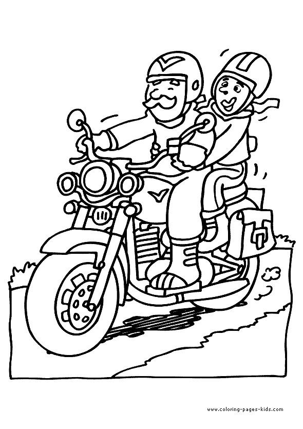 Coloriage et dessins gratuits Motocyclette 25 à imprimer