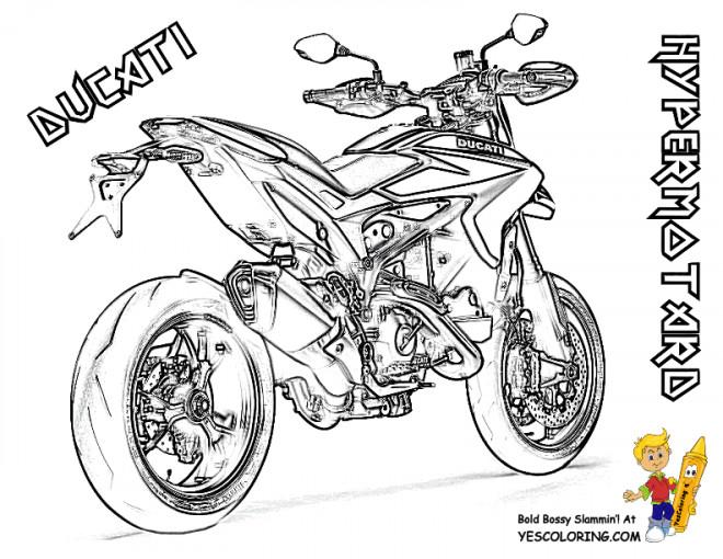 Coloriage et dessins gratuits Motocyclette 26 à imprimer