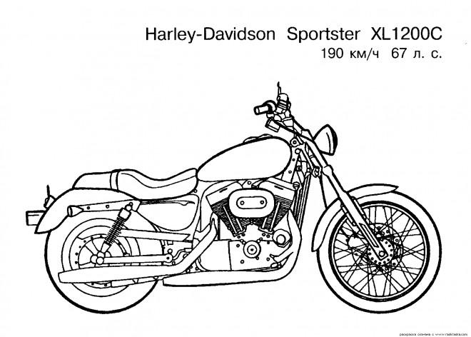 Coloriage et dessins gratuits Motocyclette 27 à imprimer