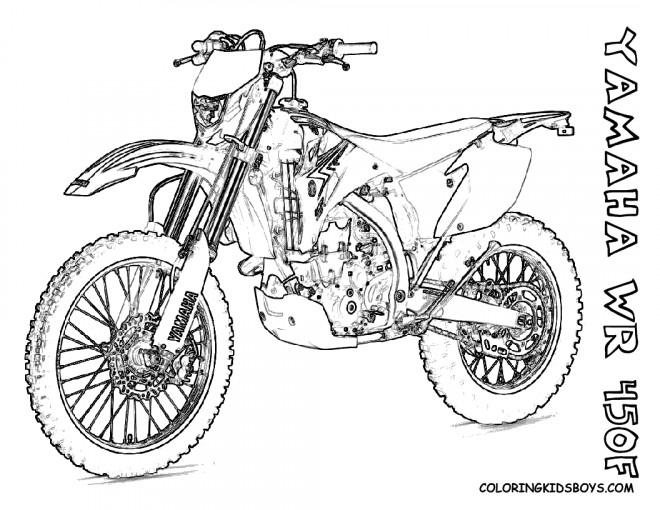 Coloriage et dessins gratuits Motocyclette 29 à imprimer