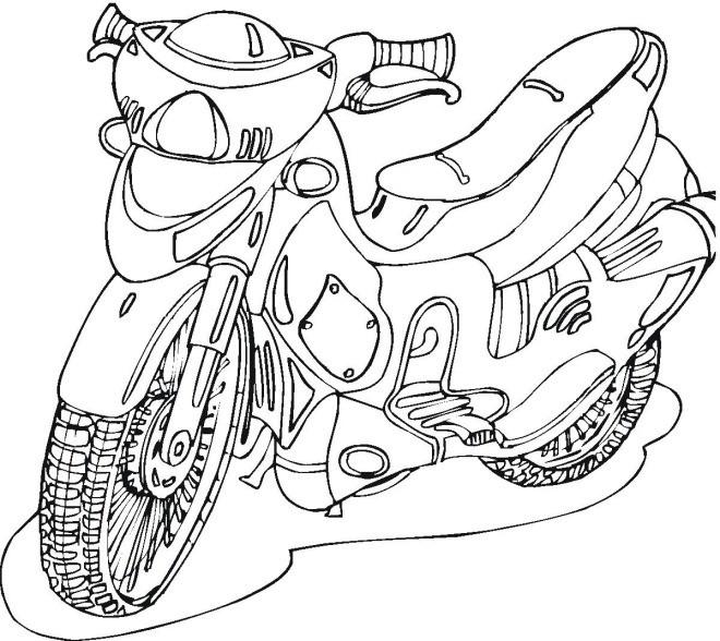 Coloriage et dessins gratuits Motocyclette 30 à imprimer